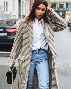 m File | #plaid #streetstyle #denim