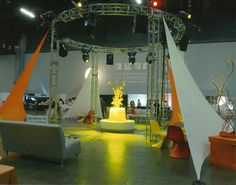 Spandex and truss for Contemporary Corporate Event. J Patrick Designs - corporate event decoration