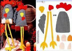 ARTE COM QUIANE - Paps,Moldes,E.V.A,Feltro,Costuras,Fofuchas 3D: molde galinhas de tecido