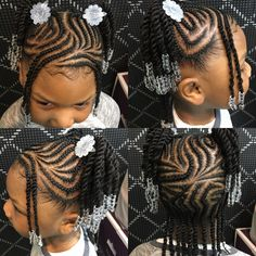 Bead Ponytails Hairstyle African American Little Girls New Idea