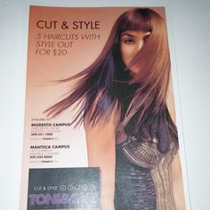 Lets take advantage of these AMAZING promotions!!! 5 Haircuts WITH style for $20! 5 Blowouts for $35 and UNLIMITED Haircuts WITH style for a whole year only $99!!! Come see us here at Toni&Guy Manteca!!