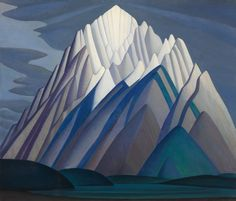 Mountain Forms, an iconic 1926 Rocky Mountain canvas by Group of Seven founder Lawren Harris, will be sold by Heffel Fine Art Auction House on Nov. The work was recently part of The Idea of North, Steve Martin's show celebrating the art of Lawren Harris. Group Of Seven Artists, Group Of Seven Paintings, Canadian Painters, Canadian Artists, Canvas Painting Landscape, Landscape Art, Landscape Quilts, Sgraffito, Tom Thomson Paintings