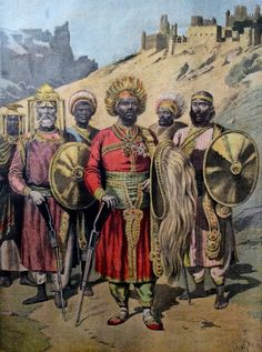 Menelik II, Emperor of Ethiopia. Le Petit Journal. 1895.