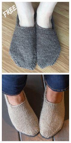 Knit Basic Sock Slippers Free Knitting Patterns - Knitting Pattern Knit Basic Sock Slippers Free Knitting Patterns - Knitting Pattern Record of Knitting Wool rotating, weaving and stitchi. Knit Slippers Free Pattern, Knitted Slippers, Slipper Socks, Knit Sock Pattern, Baby Slippers, Knitting Machine Patterns, Knit Patterns, Stitch Patterns, Knitting Socks