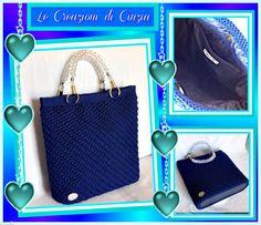 ...le mie CREAZIONI: Shopper bluette!!!