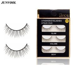 Fake Lash Eyelash Extension New 15 Pairs Handmade False Eyelashes Quality Cross Eye Lashes Make Up Sharpened Eyelash Beauty Tool