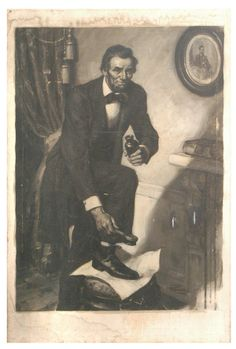 Saul Tepper painting of Abraham Lincoln