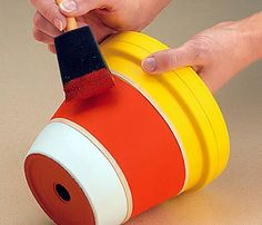 Painting Clay Pots Ideas | How about painting some pots to look like candy corn. Use these for ...
