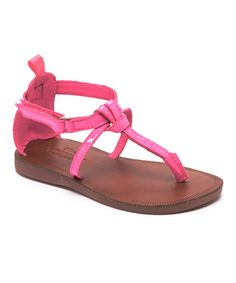 Look at this Pink Gemma Sandal on #zulily today!