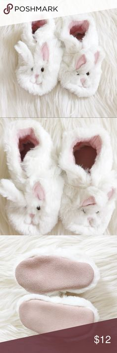 Bunny Slippers Super sweet Bunny Slippers perfect for your little boy or girl! Never been worn. Reasonable offers always accepted. Bundle more to save more 🐰✨ Shoes Slippers