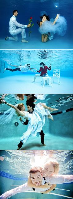 27 Beautiful Underwater Engagement Photos - Fun