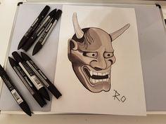 Hannya mask #art #drawing #hannyamask