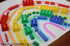 Fun with Legos: Create a Rainbow from Quirky Momma
