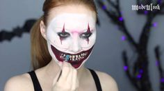 American Horror Story Freak Show Makeup Tutorial (Twisty) - This looks just like the clown from American Horror Story, like dead on. He's so scary