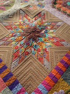Green Fairy Quilts - love the way the star is quilted