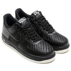 69270bd9183 Nike Air Force 1 LV8 Mens 718152-010 Black Croc Embossed Leather Shoes Size  12