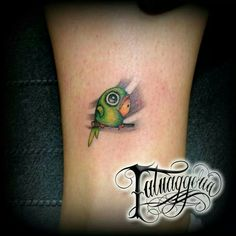 Cute Parrot Tattoo Design Parrot Tattoo, Breast Cancer Tattoos, Tattoo Ideas, Tattoo Designs, Great Tattoos, Girl Tattoos, Tatting, Piercings, Parrots