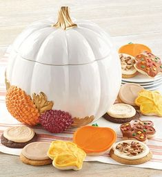 Collector's Edition Mum Cookie Jar-Cute Ceramic Pumpkin Fall Autumn Gift Present Leaf Cookies, Fall Cookies, Cut Out Cookies, Pumpkin Cookies, Ceramic Cookie Jar, Cookie Jars, Autumn Decorating, Cookie Decorating, Fall Decorated Cookies