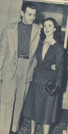 A candid Clark Gable and Vivien Leigh