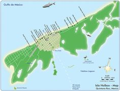 Map Isla Holbox, Map Holbox town center