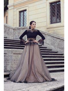 TULLE AND LACE BOHEMIAN MAXI DRESS - Rhea Costa-Shop