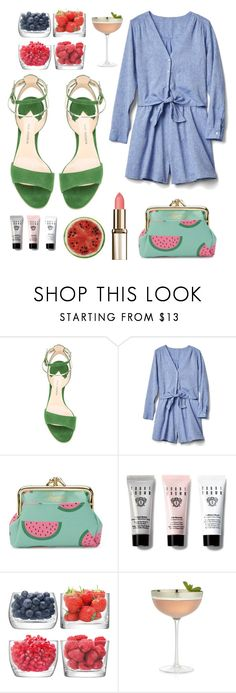 """🍉Summertime Snack🍉"" by jonnabobana ❤ liked on Polyvore featuring Paul Andrew, Gap, Buxton, Bobbi Brown Cosmetics, LSA International, Crate and Barrel and Round Towel Co."