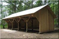 Timber Frame Tractor Shed