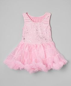 Another great find on #zulily! Pink Glitter Pettiskirt Dress - Toddler & Girls by Princess Expressions #zulilyfinds