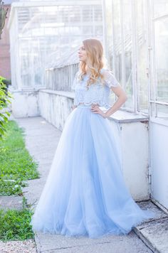 Making my dreams come true - Pink Wish Blue Tulle Skirt, My Dream Came True, Princess Wedding Dresses, Flower Girl Dresses, Street Style, Formal, Lace, Skirts, Pink