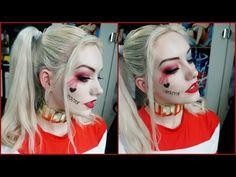 Harley Quinn Kostüm selber machen: DIY & Anleitung - Makeup Tutorial Over 40 Halloween Fotos, Harley Quinn Halloween, Halloween 2018, Easy Halloween, Joker Makeup Tutorial, Costume Makeup Tutorial, Cosplay Tutorial, Joker Make-up, Harley Quinn Et Le Joker