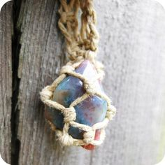 Hemp wrapped stone necklaces! finally! - JEWELRY AND TRINKETS