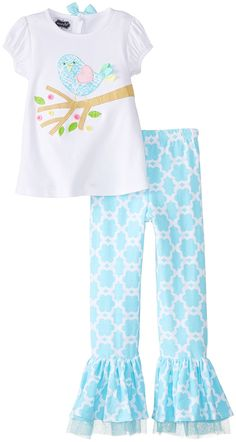 Mud Pie Little Girls' Little Chick Top and Pants * Hurry! Check out this great product : Baby clothes