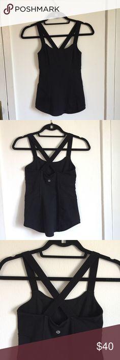Lululemon Racer-Back Yoga Shirt Built-in bra inside makes it very supportive lululemon athletica Tops Tank Tops