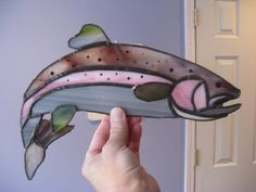 Catch of the Day  A Rainbow Trout by littleshopofglass on Etsy, $60.00