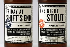 hand crafted beer labels