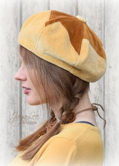 Patchwork Velvet Beret Hat by GreenTrunkDesigns on Etsy
