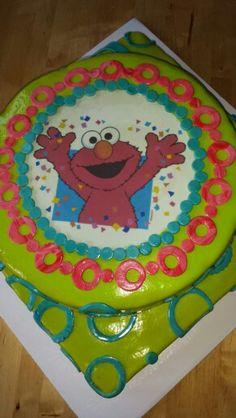 Elmo tres leches fondant cake