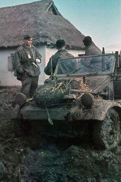 German Kübelwagen in Russian mud