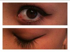Was bored, light eyeshadow , eye liner