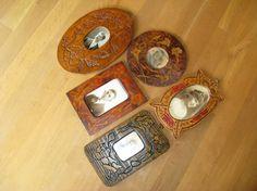 Vintage Carved Wood Handmade Frames Vintage by TheInstantMemory