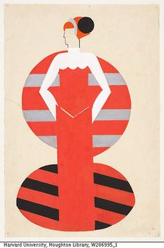 Alexandra Exter, costume design for Othello, 1927. Russian Theatrical Designs in the Harvard Theatre Collection.