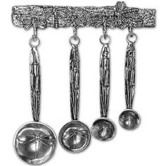 Pewter dragonfly measuring spoons. I.Want.These.