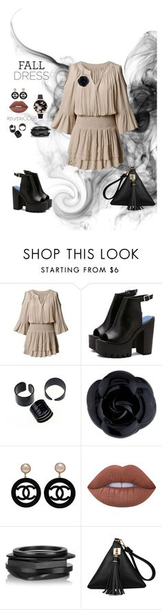 """""""Go To Dress"""" by purplecc88criss on Polyvore featuring Chanel, Lime Crime, Kenneth Jay Lane and Olivia Burton"""