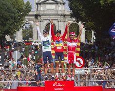 Vuelta a España de 2012. Alberto Contador junto a Alejandro Valverde y Joaquim Rodríguez.