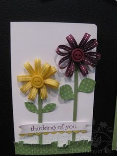 Flowers with ribbon-how cute! # Pinterest++ for iPad #