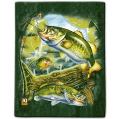 """Bass Lake"" Luxury Queen Heavy Plush Blanket - American Expedition"