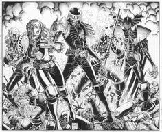 Judge Dredd commission by Arthur Adams//Arthur Adams/A/ Comic Art Community GALLERY OF COMIC ART