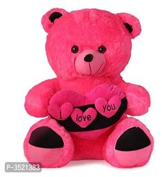 Zoonio Pink I Love You Teddy Bear 45 Cm by Fashioun Trends - Online shopping for Soft Toys on MyShopPrime - Cute Teddy Bear Pics, Buy Teddy Bear, Teddy Bear Images, Big Teddy, Teddy Bear Gifts, Teddy Bear Pictures, Teddy Bear Delivery, Teddy Bear Online, Teddy Bear Sewing Pattern