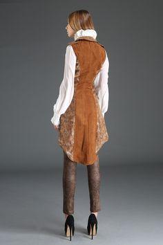 Pentagramme Ladies Steampunk Waistcoat, Sleeveless Tailcoat Jacket - Click to enlarge