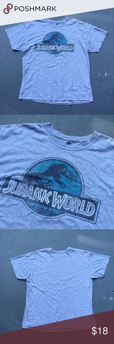 Gray Jurassic Park tee Grey Jurassic Park tee Excellent condition  No stains no damages no holes  Fits perfect to size  Willing to negotiate offer  Come check out the rest of my closet  Vintage vtg retro 90s Shirts Tees - Short Sleeve